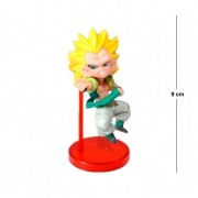 Action Figure DBZ Gotenks Super Saiyan 3 9CM Base Vermelha