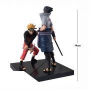 Action Figure Naruto Naruto + Sasuke 14CM PVC