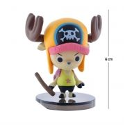 Action Figure One Piece Tony Tony Chopper Modelo 1 6CM PVC Base Preto