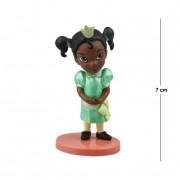 Action Figure Princesas Princesa e o Sapo Tiana 7CM PVC Base Vermelha