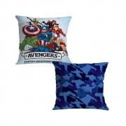 Almofada Avengers em ação - Marvel - 40X40 (Microfibra)