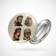 Botton Button Geek Artistas Ninjas