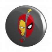 Botton Homem Aranha e Homem de Ferro - Marvel - 6X6