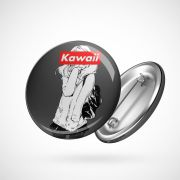 Botton Button Geek Kawai
