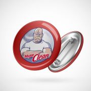 Botton Button Geek Major Clean
