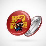 Botton Button Geek Mario Chibi