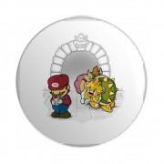 Botton Mario e Princesa - Super Mario - 6X6
