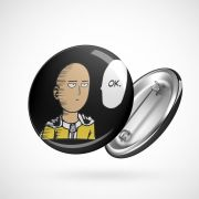 Botton Button Geek One Punch Man Saitama