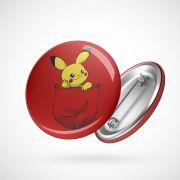 Botton Button Geek Pikachu
