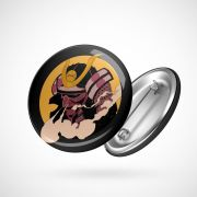 Botton Button Geek Samurai