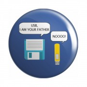 Botton Button Geek USB, I Am Your Father