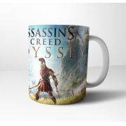 Caneca Cerâmica Branca Assassin's Creed Odyssey
