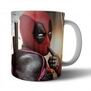 Caneca Cerâmica Branca Deadpool - Marvel - 350ML