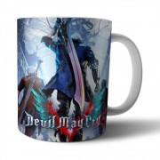 Caneca Cerâmica Branca DMC Devil May Cry 5 - 350ML