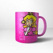 Caneca Cerâmica Rosa Princesa Peach