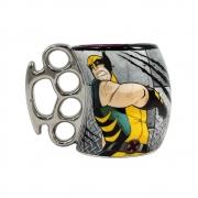Caneca Cerâmica Soco Inglês Wolverine - X-Men - 350mL