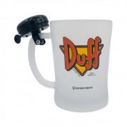 Caneca Vidro Jateade Com Campainha Duff -The Simpsons - 650ML