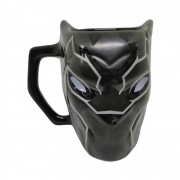 Caneca Cerâmica Formato 3D Pantera Negra - Marvel - 450mL