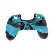 Capa de Silicone para Controle PS4 - Azul e Preto