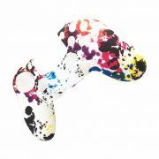 Capa de Silicone para Controle PS4 Branca Colorida