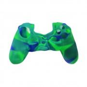 Capa de Silicone para Controle PS4 - Verde e Azul