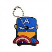 Chaveiro Capa de Chave Capitão América - Vingadores Marvel - 4CM