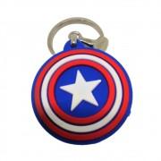 Chaveiro Resinado Escudo Capitão América - Marvel - 5CM