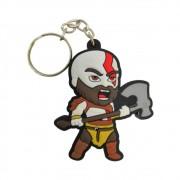 Chaveiro Emborrachado Kratos - God of War- 5CM