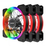 Kit com 3 Fans Coolers RGB Alseye Halo 4.0