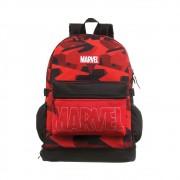 Mochila Marvel - Vermelha e Preta - Poliéster