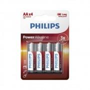 Pilha Philips Alcalina AA 4 Pilhas