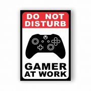 Placa Decorativa Gamer at Work Xbox One - PVC - 20x14cm