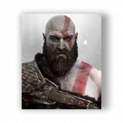 Placa Decorativa God of War Kratos - PVC - 32x27cm