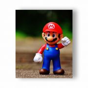 Placa Decorativa Mario - PVC - 32x27cm
