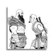 Placa Decorativa MDF God of War Kratos 20x20cm
