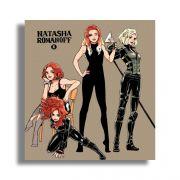 Placa Decorativa MDF Natasha Romanoff 20x20cm