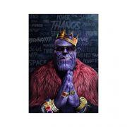 Placa Decorativa MDF Thanos - Marvel Vingadores - 28X20