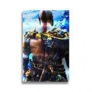 Placa Metalizada Kratos - God of War - 10x15