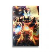 Placa Metalizada Homem De Ferro - Marvel Vingadores - 10x15