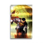 Placa Metalizada Superman - DC Liga Da Justiça - 10x15