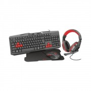 Kit Gamer Trust Gaming Bundle - Headset + Teclado + Mouse + Mousepad
