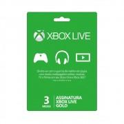 Cartão Xbox Live Gold - Assinatura de 3 Meses