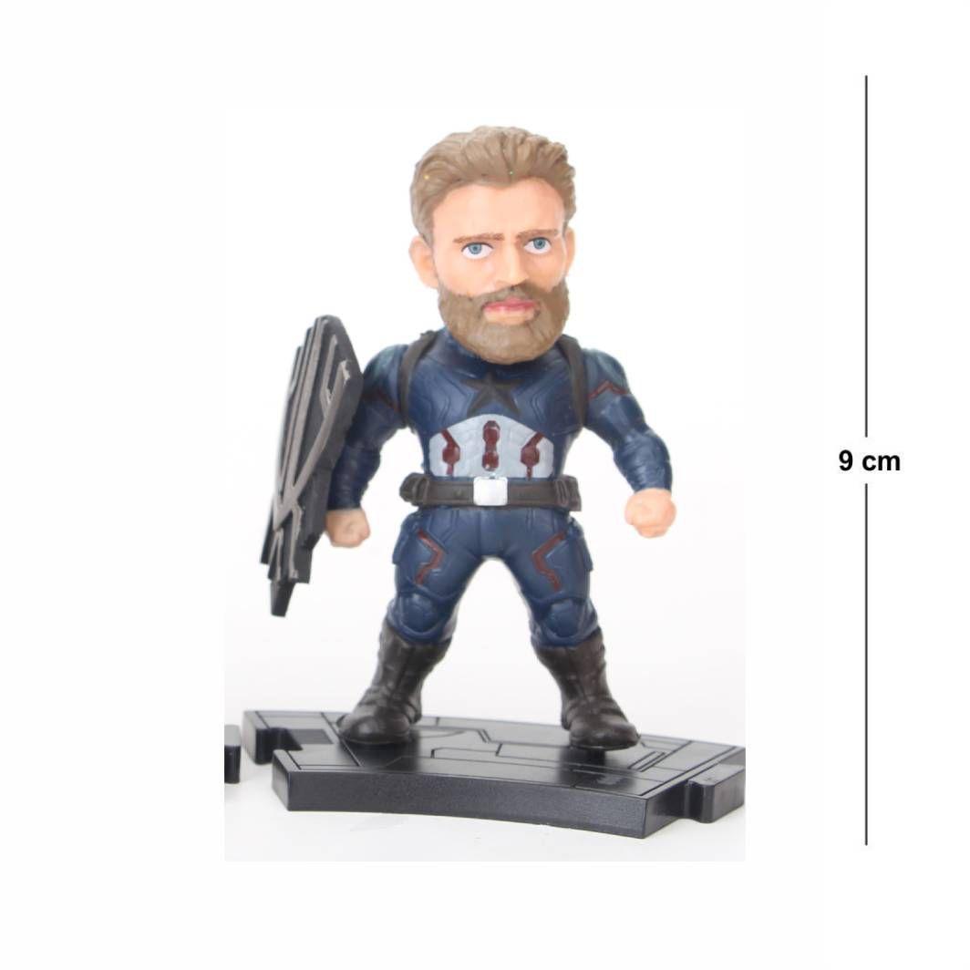 Action Figure Avengers Capitão America 9CM PVC Modelo 2
