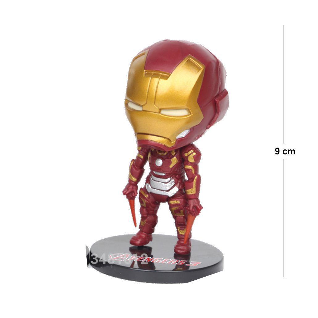Action Figure Avengers Homem de Ferro 9CM Base Cinza