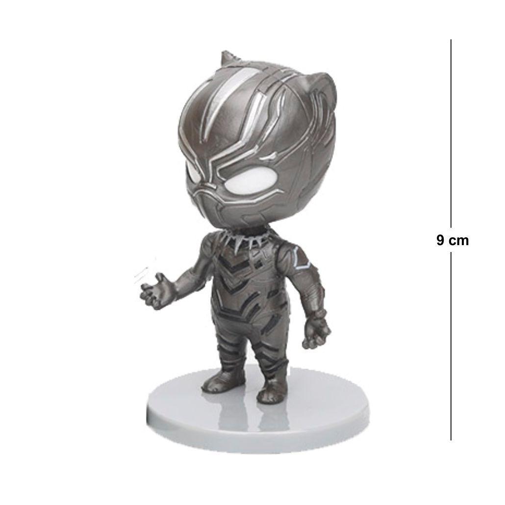 Action Figure Avengers Pantera Negra 9CM Base Cinza