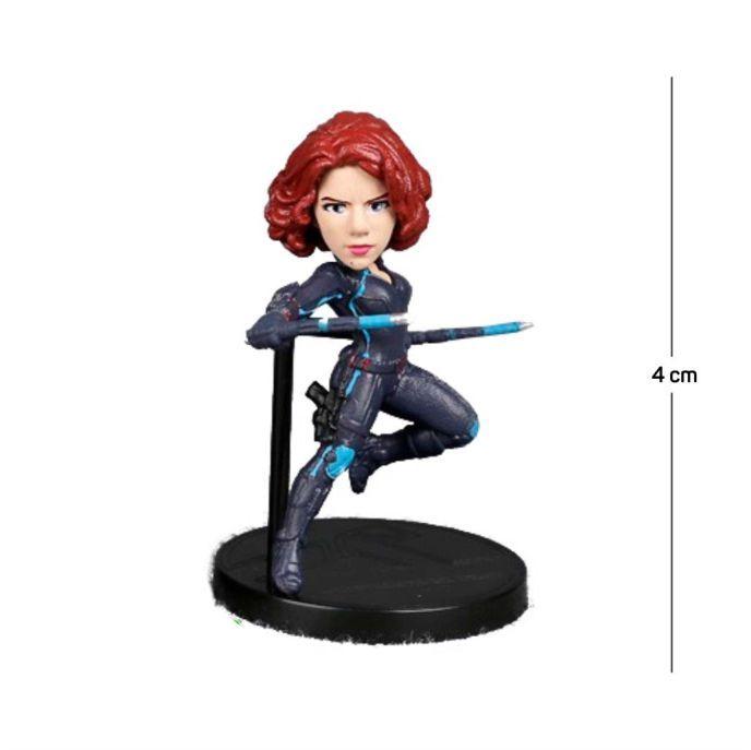 Action Figure Avengers Viúva Negra 5CM PVC