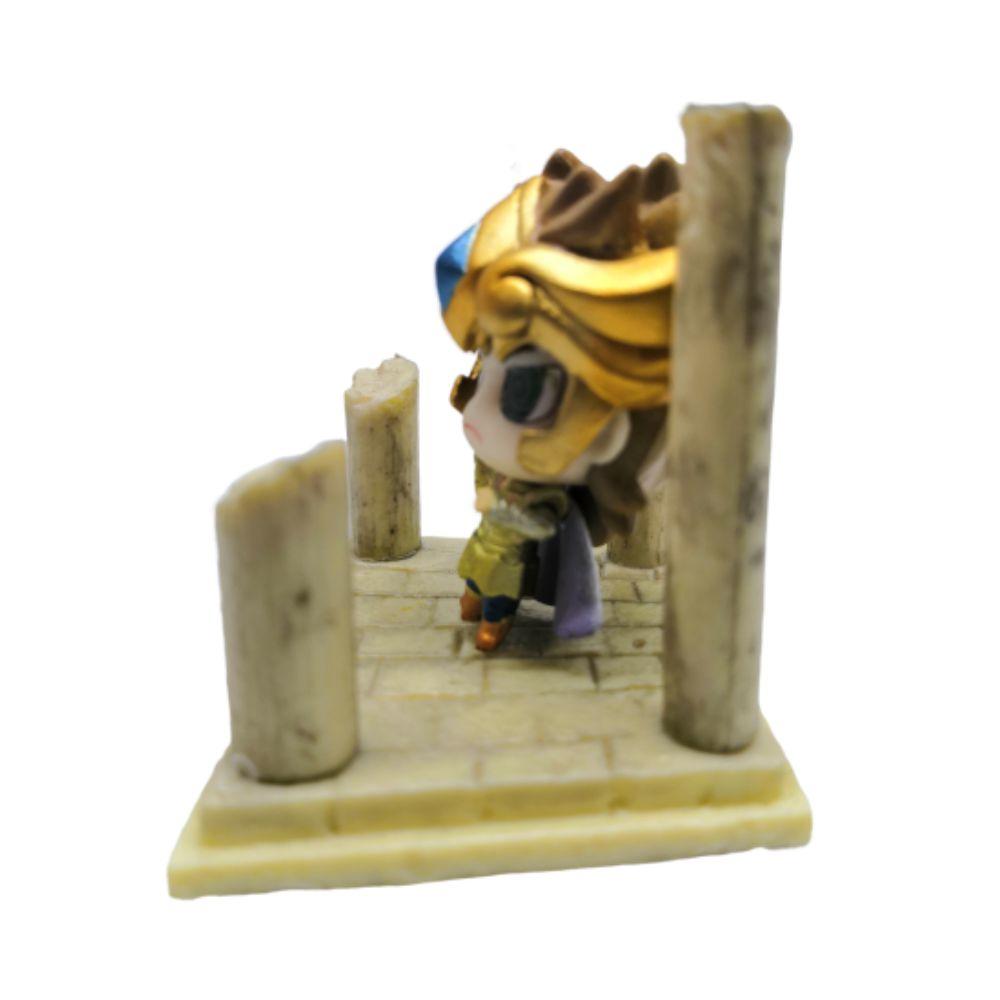 Action Figure CDZ Aiolia de Leão 4CM PVC Santuário