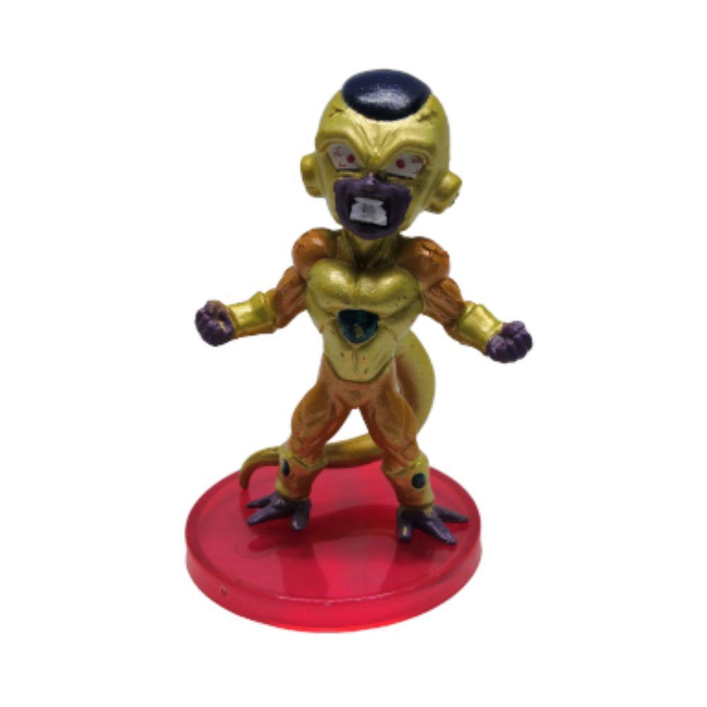 Action Figure DBZ Frieza Dourado 7CM Base Preta