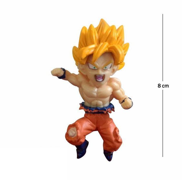 Action Figure DBZ Goku 8CM Base Vermelha
