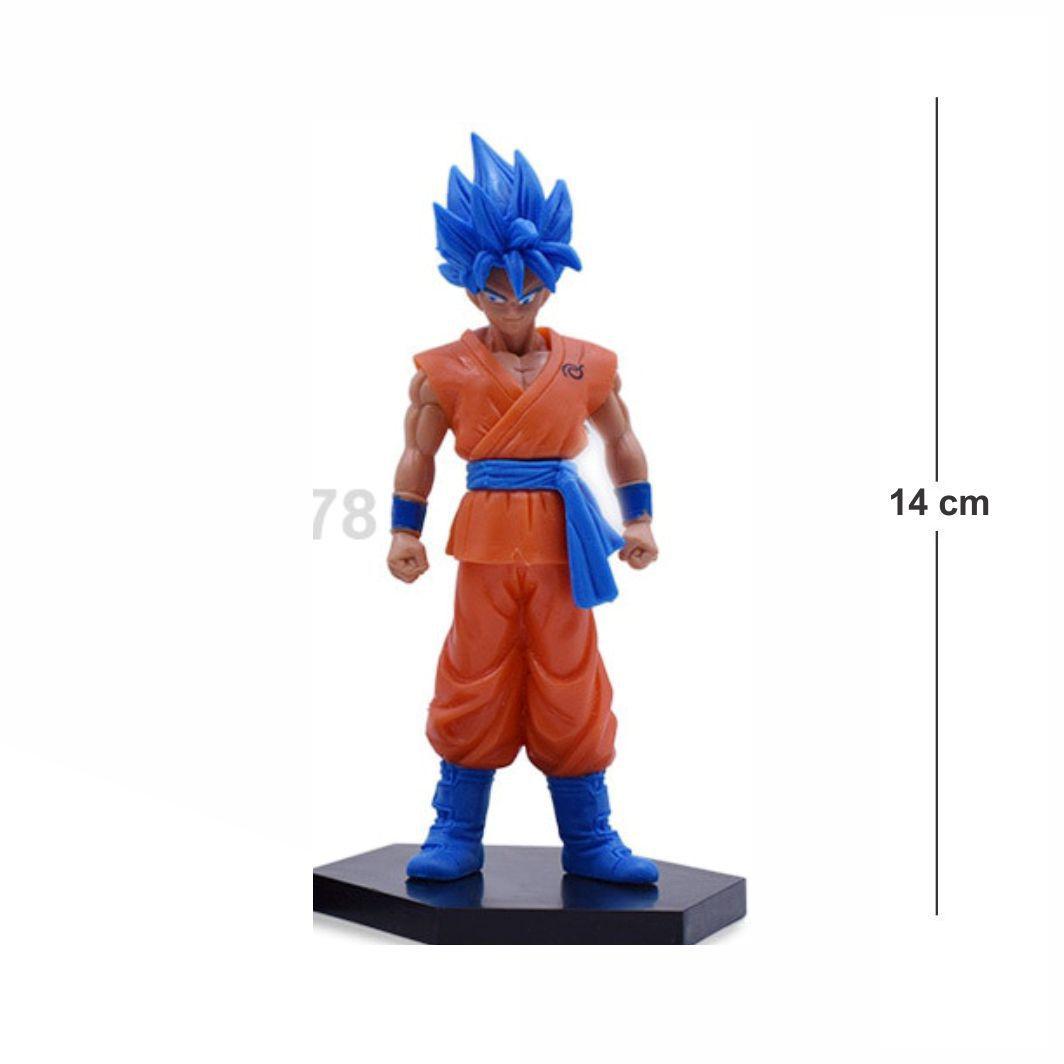 Action Figure DBZ Goku Blue 14CM